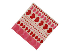 Pink Hearts Beverage Napkins