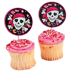 Pink Pirate Treat Toppers
