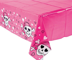 Pink Pirate Tablecloth