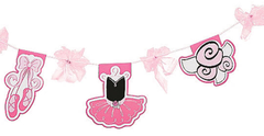 Pretty Pink Ballerina Party Garland
