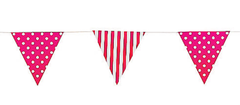 Bunting, Hot Pink Stripes & Polka Dots