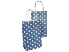 Party Bag, Blue Polka Dots, Small