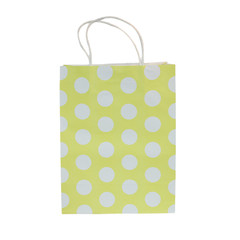 Party Bag, Yellow Polka Dot, Large