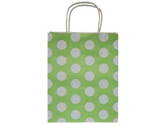 Party Bag, Touch of Lime Green, Polka Dot, Large