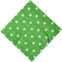 Polka Dot Napkins, Green with White