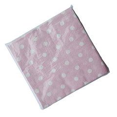 Polka Dot Napkins, Pink with White