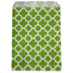 Treat Bag, Green Quatrefoil