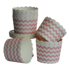 [SALE] Baking / Treat cups, Pink Chevron