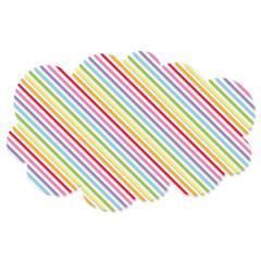 Rainbow Cloud Decoration, Diagonal Stripes