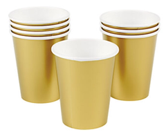 Gold Metallic Party Cups