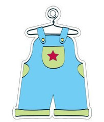Blue Overalls Gift Tag