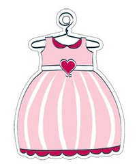 Pink Dress Gift Tag