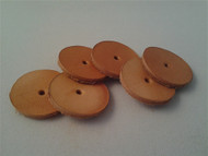 "25.4mm (1"") leather disk 6 pack."