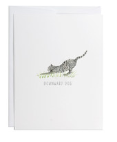 Downward Dog Greeting Card