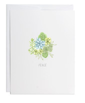 Peace Sedum Greeting Card
