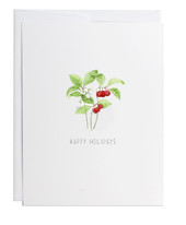 Happy Holidays Wintergreen Greeting Card