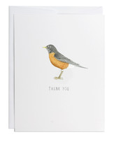 Thank You Robin Greeting Card