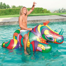 "75"" Inflatable POP ART Rhino Rider"