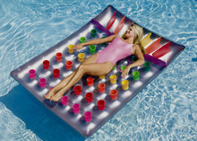 "78""x56"" Double Wide 36 Pocket Suntan Fashion Mat"