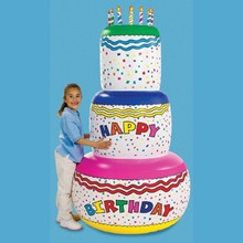 "72"" Inflatable Birthday Cake - JUMBO SIZE!"