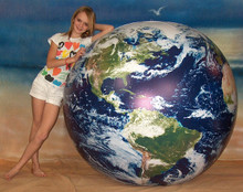 """72"""" Inflatable ASTRONAUTS VIEW Earth Globe w/Clouds"""