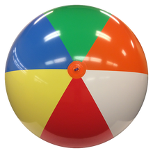 "72"" 6 Color `Glossy` Beach Ball"