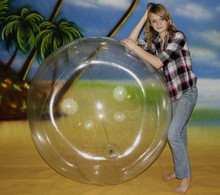 "72"" 1 Color Clear Beach Ball"