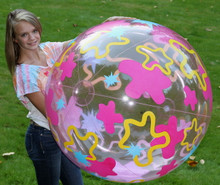 "48"" Transparent Pink Splash Beach Ball"