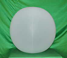 "48"" 6 Panel Opaque White GLOW STICK or SPRINKLER Beach Ball w/ Clear Frost Tube"