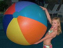 "48"" 6 Color EMBOSSED VINYL Beach Ball"