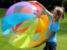 "48"" 6 Color 12 Panel RAINBOW STRIPE Beach Ball"