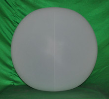 "42"" 6 Panel Opaque White GLOW STICK or SPRINKLER Beach Ball w/ Clear Frost Tube"