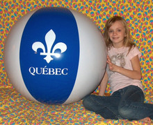 "40"" 2 Color QUEBEC Canada Beach Ball - French Canadian Fleur-De-Lis"