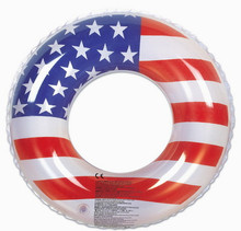 "36"" Stars & Stripes `USA Flag` Swim Ring"
