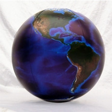 "36"" Inflatable Earth Globe DARK BLUE, OCEANS"
