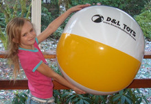 "36"" ADS 4 Color D & L TOYS Classic Beach Ball"