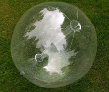 """36"""" 6 Panel Clear GLOW STICK or SPRINKLER Beach Ball w/ Clear Tube"""