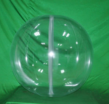 "36"" 6 Panel Clear GLOW STICK or SPRINKLER Beach Ball w/ Clear Frost Tube"