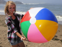 "36"" 6 Color Beach Ball w/Pink"