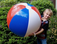 "36"" 3 Color Red, White & Blue Patriotic Beach Ball"