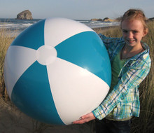 "36"" 2 Color Teal & White Beach Ball"