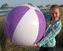 "36"" 2 Color Purple & White Beach Ball"