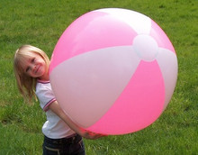 "36"" 2 Color Pink & White Beach Ball"