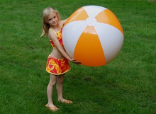 "36"" 2 Color Orange & White Beach Ball"