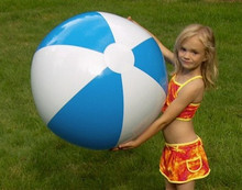 "36"" 2 Color Light Blue & White Beach Ball"