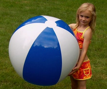 "36"" 2 Color Dark Blue & White Beach Ball"