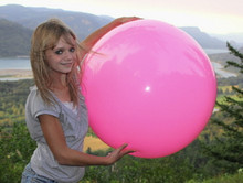 "36"" 1 Color Pink Beach Ball"