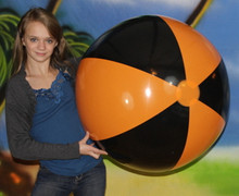 "36"" 2 Color Black & Orange Beach Ball"