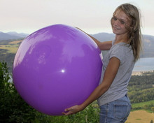 "36"" 1 Color Purple Beach Ball"