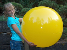 "36"" 1 Color Lemon Yellow Beach Ball"
